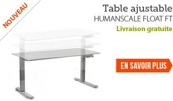 Table de bureau ergonomique ajustable - Humanscale Float