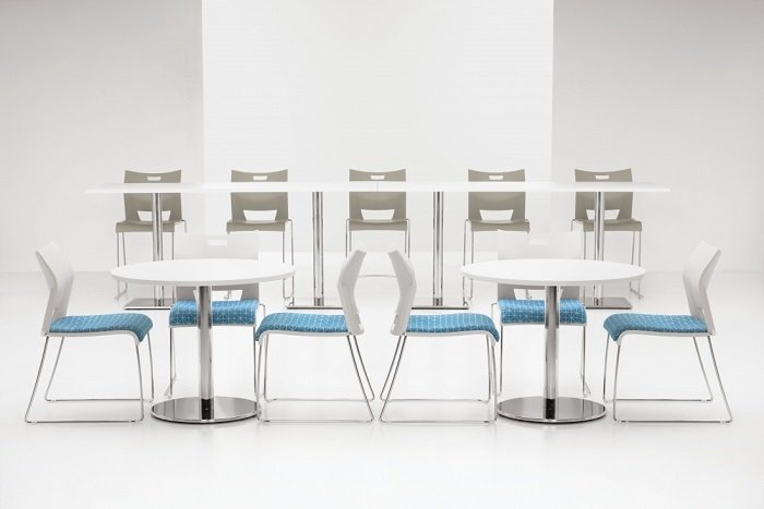 Global swap tables and duet chairs