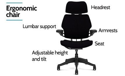 the ergonomic chair features